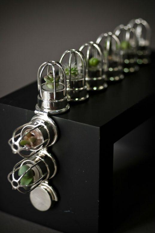 Catch me articulated silver bracelet