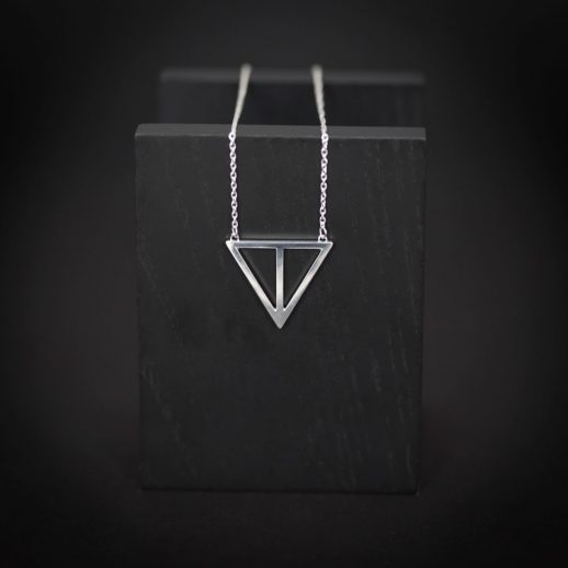 She silver necklace
