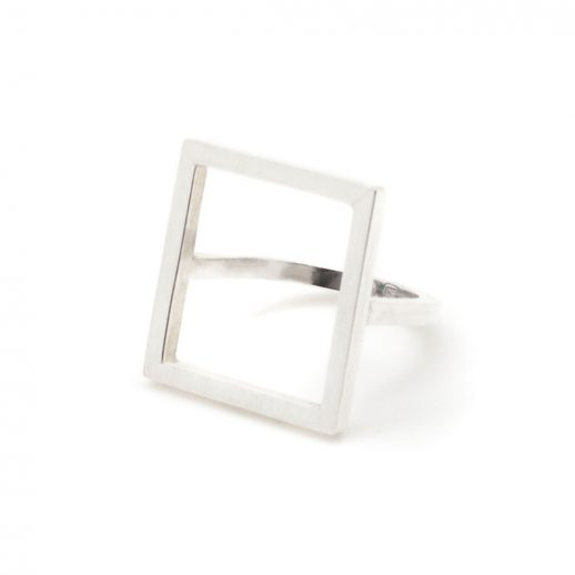 Bague carrée en argent collection Mind The Gap