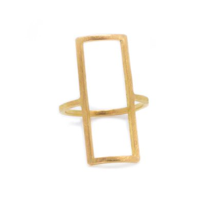 Bague rectangulaire en or collection Mind The Gap