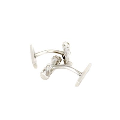"Chronos ""White Silver"" cuff links"