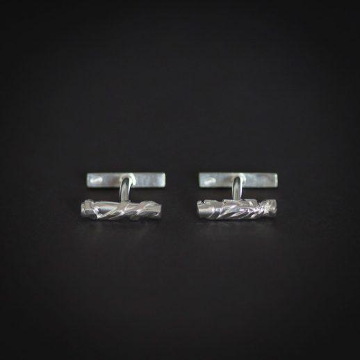 "Chronos ""White Silver"" cuff links"