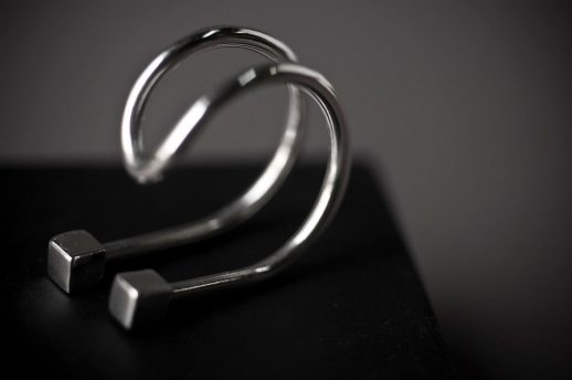 Curve silver ring I