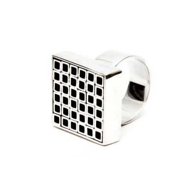 Bague II en argent collection Tubular Square Line