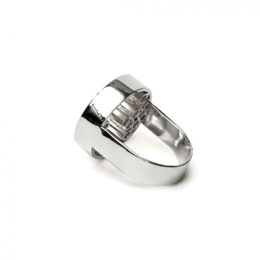 Tubular Round Line openwork silver ring