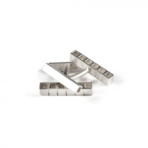 Boutons de manchettes en argent collection Tubular Square Line