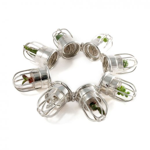 Bracelet articulé en argent collection Catch Me Cactus