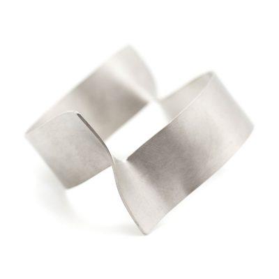 Bracelet parenthèses large en argent collection Instantanés