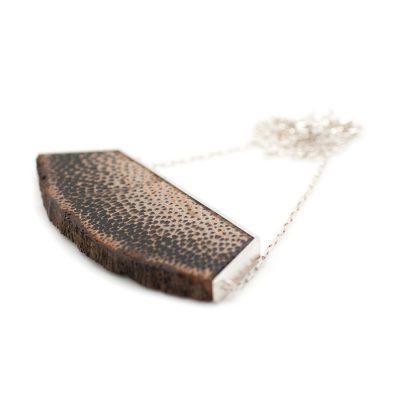 Collier en argent et bois de palmier collection Instantanés