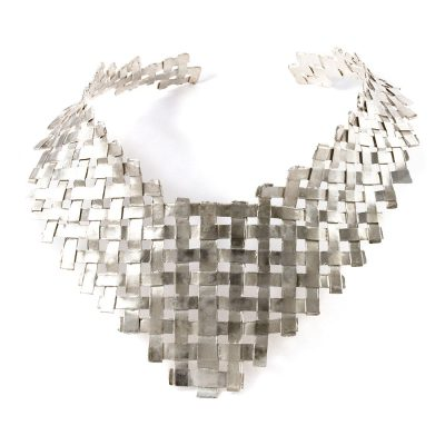 "Silver ""Woven"" necklace"