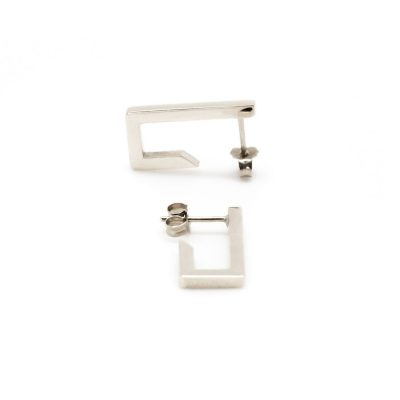 Boucles d'oreilles courtes en argent collection Mind The Gap