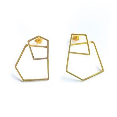 Frost gold earrings