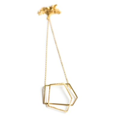Frost gold necklace